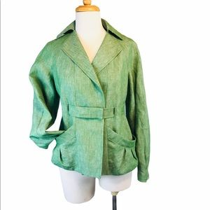 Luca Luca Couture Linen Blazer Made in Italy US/10